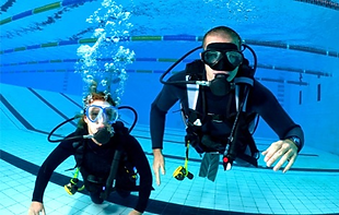 Student Scuba Divers at Pool Training
