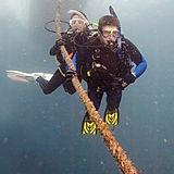 Scuba Students Descending in Open Water