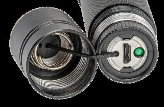 Tovatec T1000S Spot Dive Light USB Charge Port