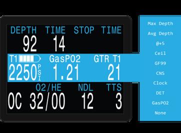 Shearwater Perdix AI Dive Computer - User Customizable Display