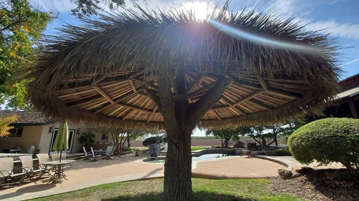 12' Palm Thatch Umbrella Cover