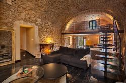 Salon de la Villa U Laziu Corbara