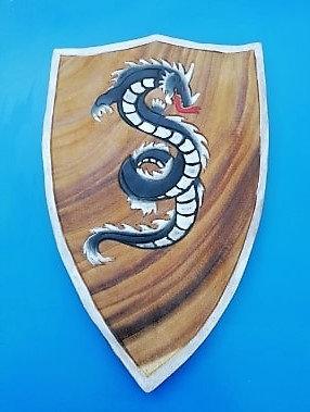Bouclier dragon debout noir