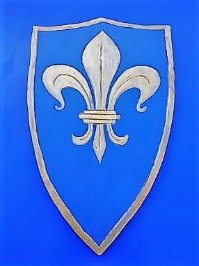 Bouclier Fleur de Lys bleu