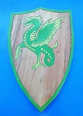 Bouclier Dragon ailé vert