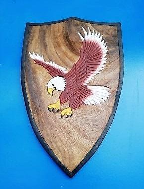 Bouclier aigle volant