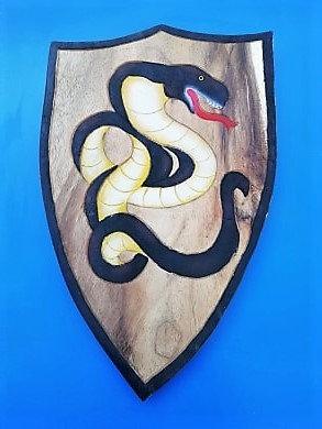 Bouclier serpent noir