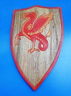 Bouclier Dragon ailé rouge