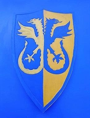 Bouclier Griffon bi couleur Bleu/jaune
