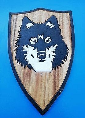 Bouclier Loup noir/blanc
