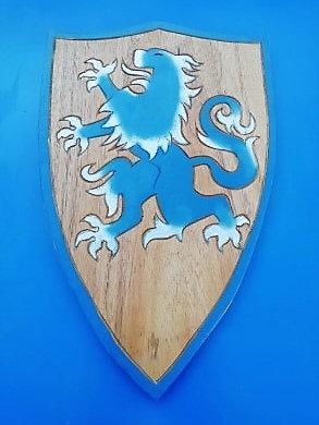 Bouclier Lion bleu