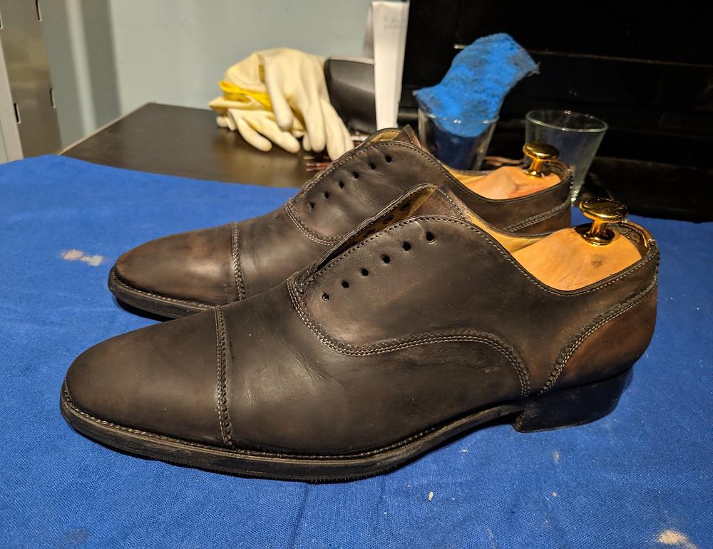 Dress shoe restoration