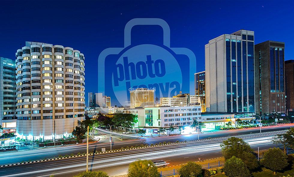 Print: Nairobi Night-University Way (DWL)