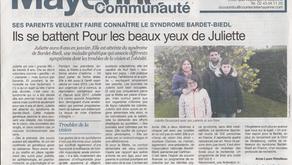 """Presse : article """"Courrier de la Mayenne"""""""