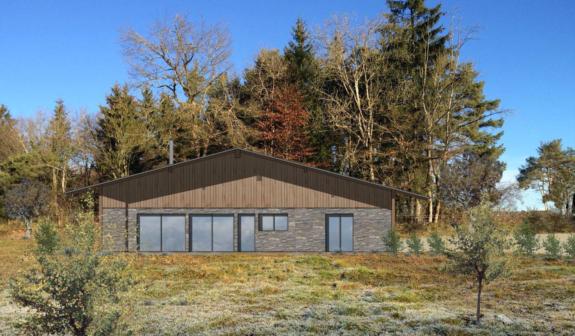 Constructions d'une maison ossature bois (Haute Savoie) Insertion du projet dans son site