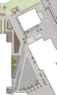 Aménagement d'un espace extérieur comme lieu de rassemblement, de manifestations et de réunion