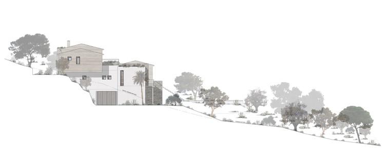 Construction neuve pierre/béton/bois (projet réalisé en agence d'architecture)