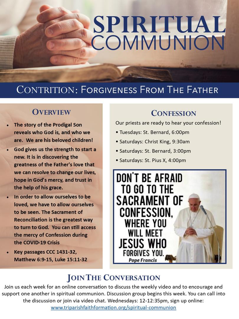 Week 4 - Spiritual Communion