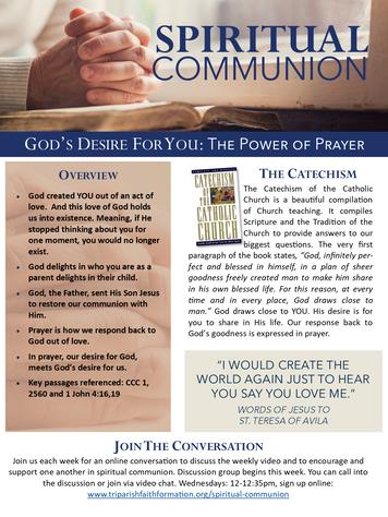 Week 2 - Spiritual Communion