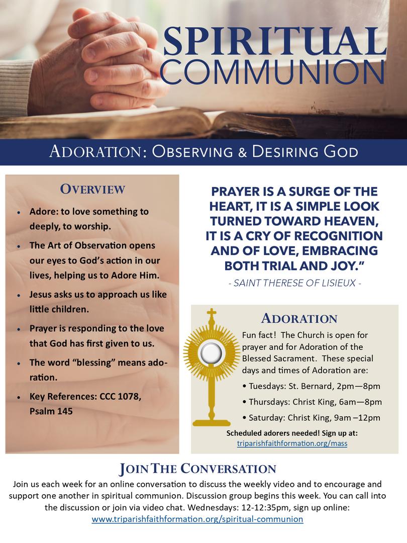 Week 3 - Spiritual Communion