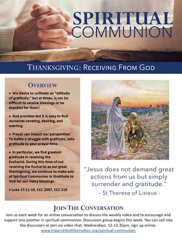 Week 5 - Spiritual Communion