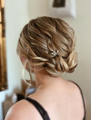 Bridesmaid Textured Twisted Bun