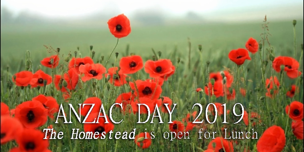 ANZAC Day Lunch at The Homestead