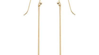 Long Thin Column Drop Earrings