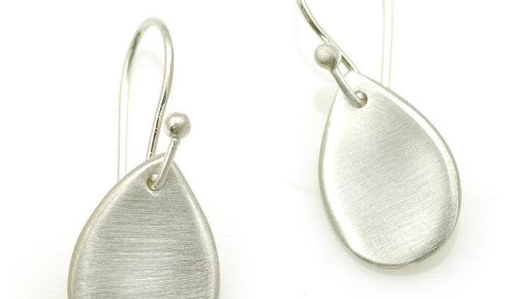 SS Small Flat Drop Earrings