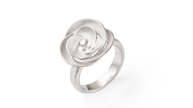SS Rose Ring Size 7.25