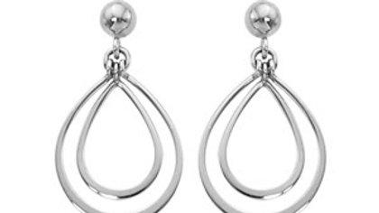 Double Pear Drop Earrings