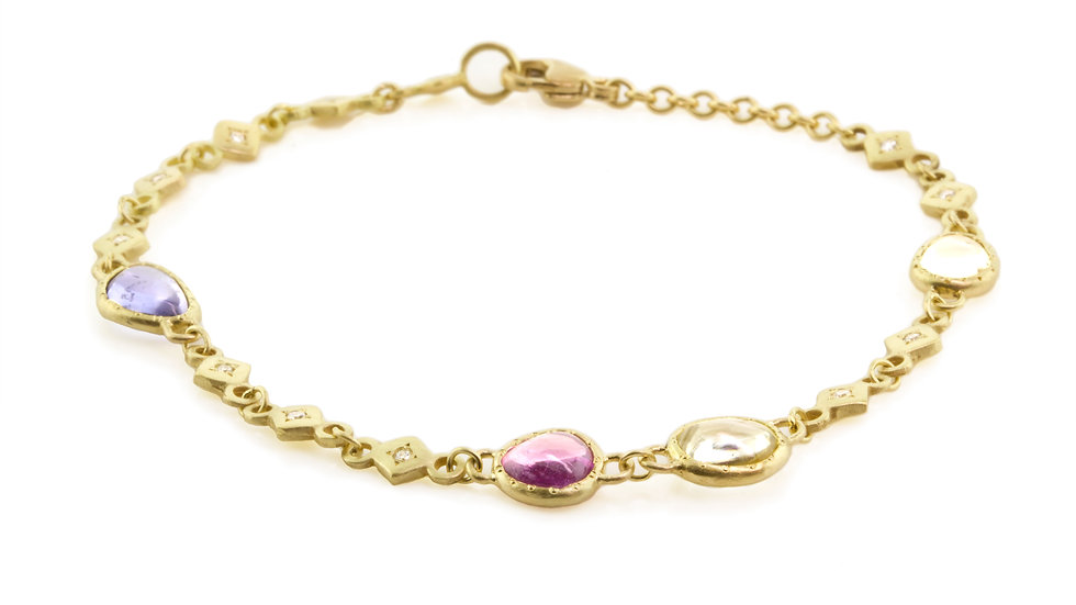 Sapphire Diamond Madagascar Bracelet