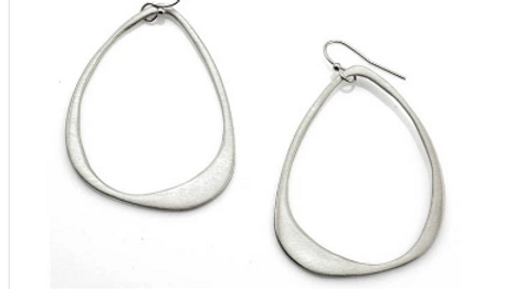 SS Large Open Drop Earrings