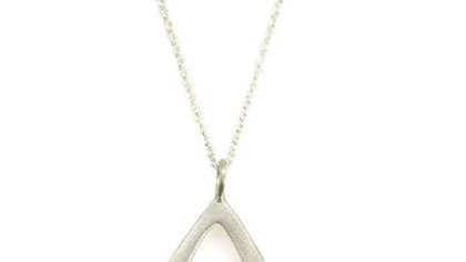 SS Small Open Drop Necklace 16-18inch.