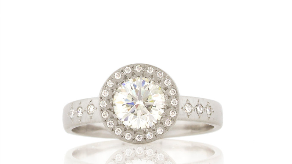 Floret Diamond Engagement Ring