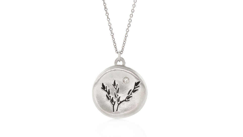 Diamond Harvest Moon Pendant