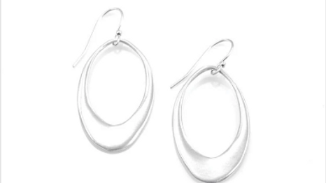 SS Large Open Oval Earrings