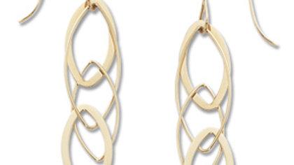 14k Interlocking Almond Drop Earrings