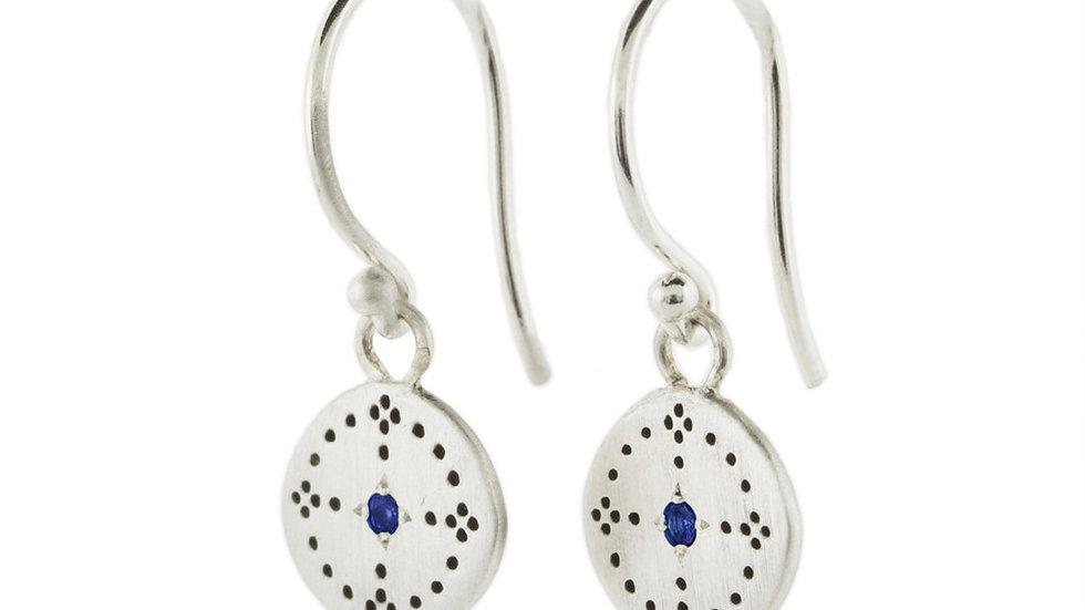 Sapphire Nostalgia Charm Earrings