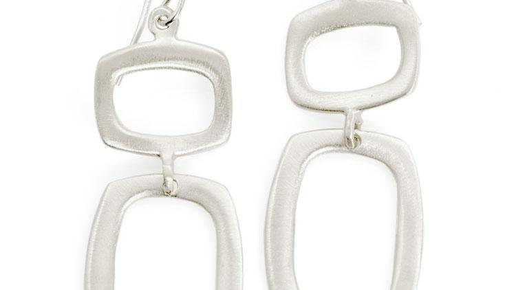 SS Two Rectangle Earrings