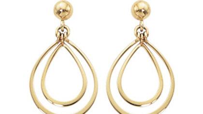 Small Double Pear Earrings