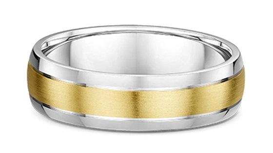 14k Yellow & White Gold 6mm Wedding Band
