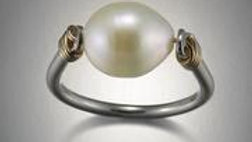 SS/GF Pearl Ring Size 7