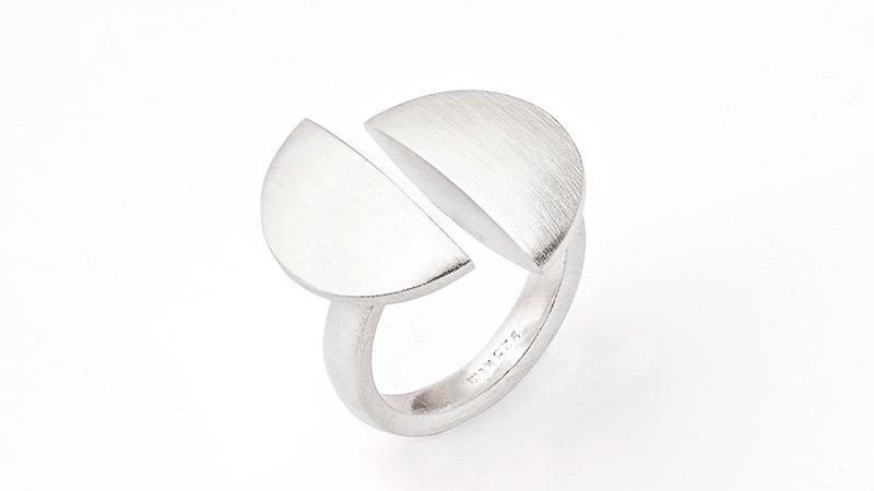 SS Half Moon Ring Size 7.25