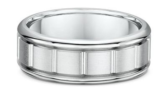 14k White Gold 8mm Wedding Band