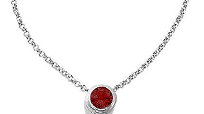 18inch Round Garnet Pendant