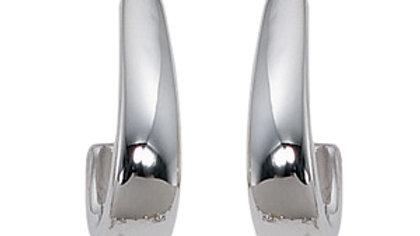 Small Flat Edge J Earrings