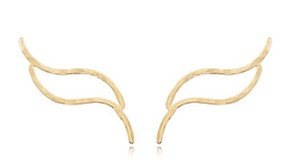 Climber Flame Hammered Earrings
