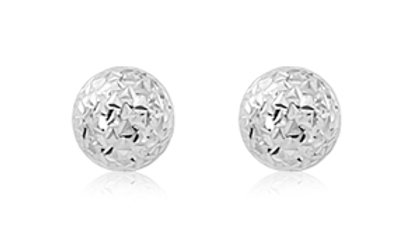 Diamond Cut Ball Earrings