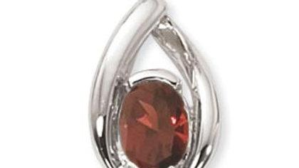 8x6 Garnet Pendant